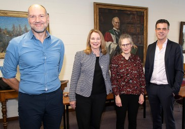 Stathis Kalyvas, Glenda Gilmore, Anne Dolan, and Robert Gerwarth at 'Writing the History of Civil War' in UCD History. (Photo: Vincent Hoban, UCD).