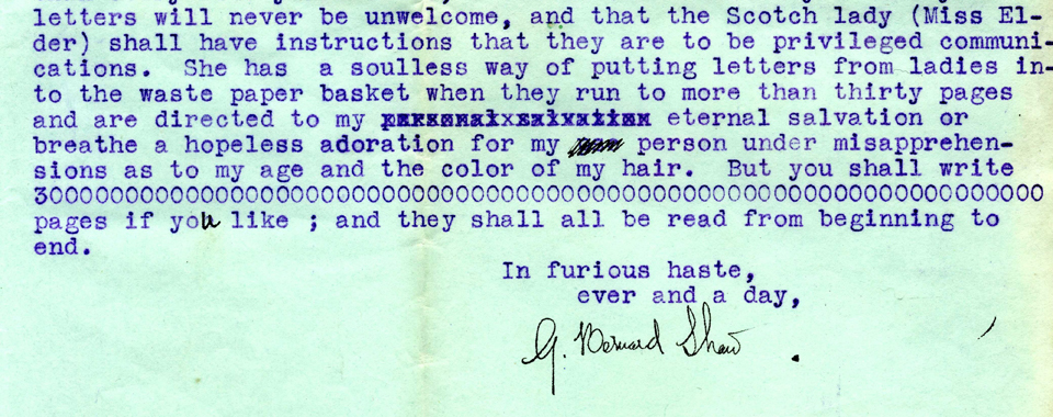 P180/1552: George Bernard Shaw to Mabel FitzGerald, 1 December 1914