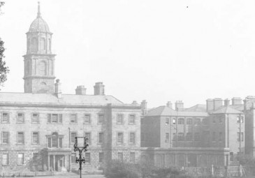 Back of Rotunda Hospital, Dublin