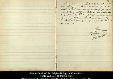 Minute Book of the Belgian Refugees' Committee