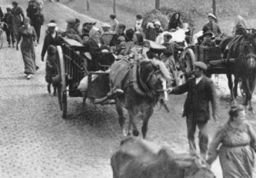 Belgian refugees in 1914