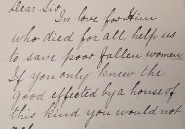 Letter from Sister M. Joseph Xavier to Francis Sheehy Skeffington appealing for help for the Magdalen Asylum Galway. National Library of Ireland, Ms. 24,143.