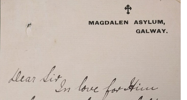Letter from Sister M. Joseph Xavier to Francis Sheehy Skeffington appealing for help for the Magdalen Asylum Galway, with attached, printed leaflet, [? c.1900-1909]