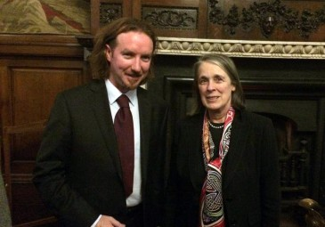 Coleman Dennehy with Susan Denham, Chief Justice of the Supreme Court of Ireland, at 'Law and Revolution in Ireland' in the Irish House of Lords, November 2014.