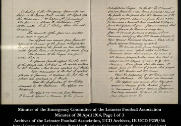 Minutes of the Emergency Committee of the Leinster Football Association