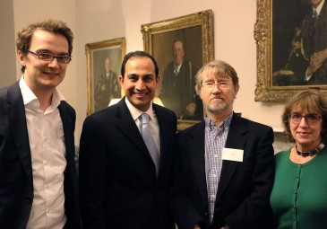 From left to right, Mark Jones (convenor), Eduardo Rea (Mexican Embassy), Alan Knight and Lidia Lozano (Real Smart Media).