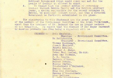 Statement to the Irish Volunteers, 24 September 1914 1