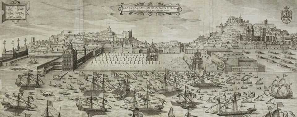 The arrival of king Philip II (of Portugal) into Lisbon in 1619.
