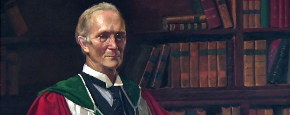 Detail from a portrait of Eoin MacNeill painted by Sean O'Sullivan (1941).