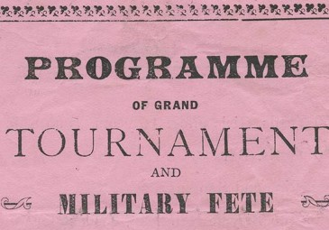 Programme of Grand Tournament and Military Fete, Castlebar, 12 July 1914