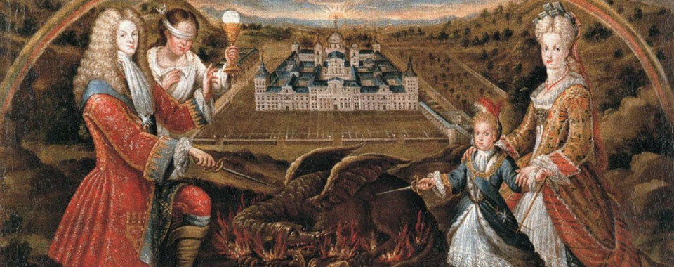 Felipe V defeating the Heresy, National Heritage, Monastery of El Escorial