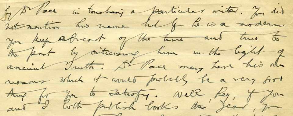 Terence MacSwiney letter