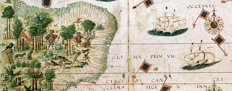 Map of Brazil in the Miller Atlas of 1519.