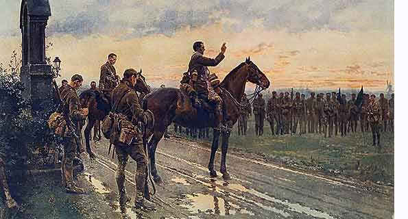 The Last General Absolution of the Munsters at Rue du Bois by Fortunino Matania