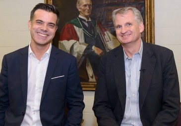 Robert Gerwarth, Professor of Modern History and Head of UCD School of History, with Timothy Snyder, Levin Professor of History at Yale (Photo: UCD).