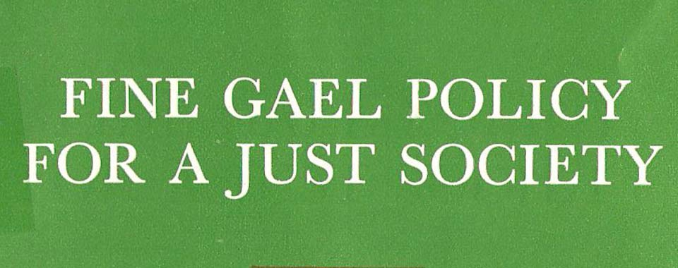 Front cover of 'Fine Gael policy for a Just Society: Education' (1966)