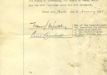 Desmond and Mabel FitzGerald IE UCDA P80/3 Notice for Desmond to leave Kerry
