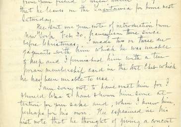 Page 1 of a letter from Edward Nolan to The O'Rahilly, 29th of April, 1915