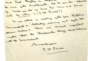 Letter from Patrick Pearse to Éamon de Valera (March 11, 1915)