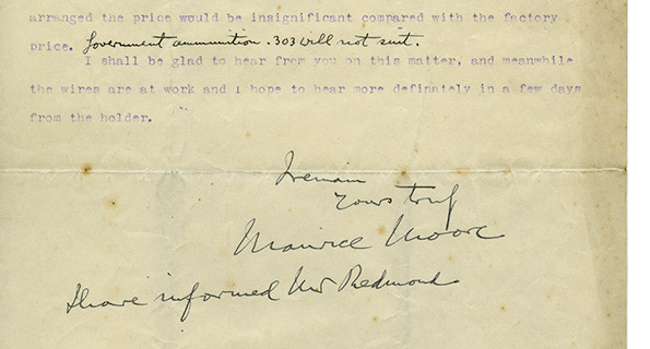 Col. Maurice Moore to 'Lord Mayor' [Lorcan Sherlock],  25 December 1914