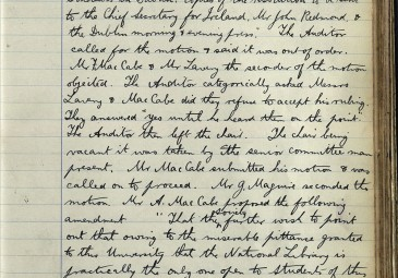 Records of the Literary and Historical Society L&H Minutes, Soc2/3, 296-297