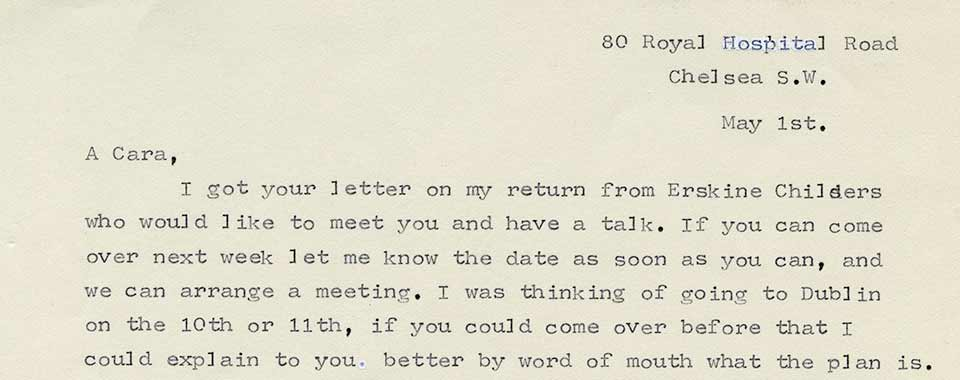 Mary Spring Rice to Michael Joseph (The) O'Rahilly, 1 and 9 May 1914
